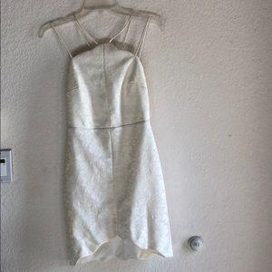 TopShop White Scalloped Dress